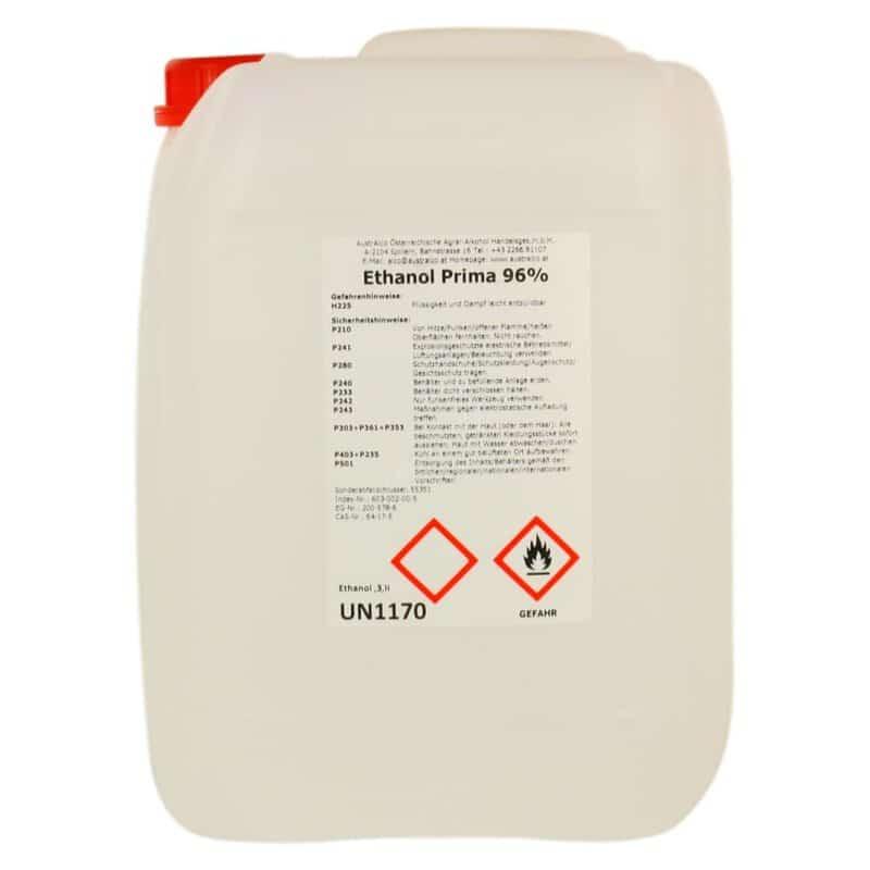 Alkohol - Ethanol - Weingeist 96% 10 ltr