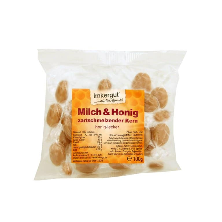 Honig Milch Bonbons 100 g