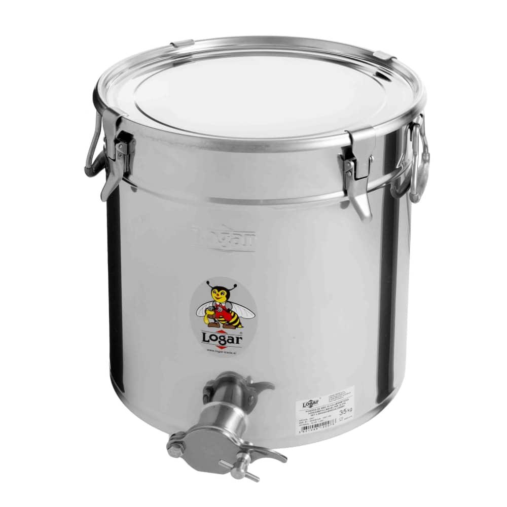 Abfüllbehälter 35 kg mit 4 Spannverschlüssen