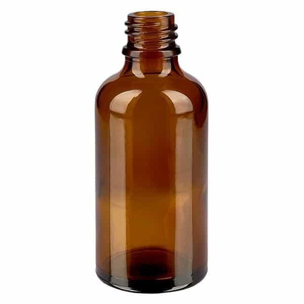 Tropfflasche 50 ml DIN 18 Braunglas