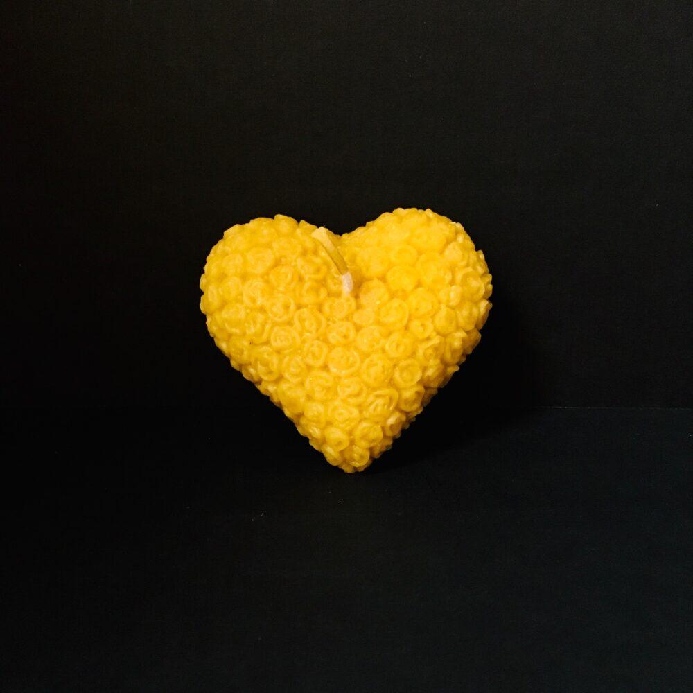 Bienenwachskerze Herz