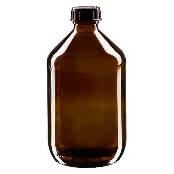 500ml Euro-Medizinflasche mit braunem Verschluss