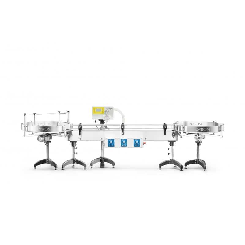 Automatische Honigabfüllanlage von Lyson mit 2 Drehtischen